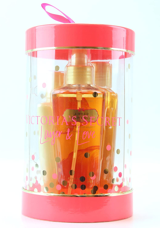 d91da3eca2bb3 Victoria's Secret Amber Romance Gift Set Body Wash, Lotion and Fragrance  Mist