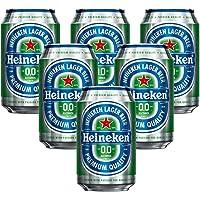 Heineken 0.Non Alcohol Beer - Zero Dot Zero Can - Pack of 6 Jar, 6 x 330 ml