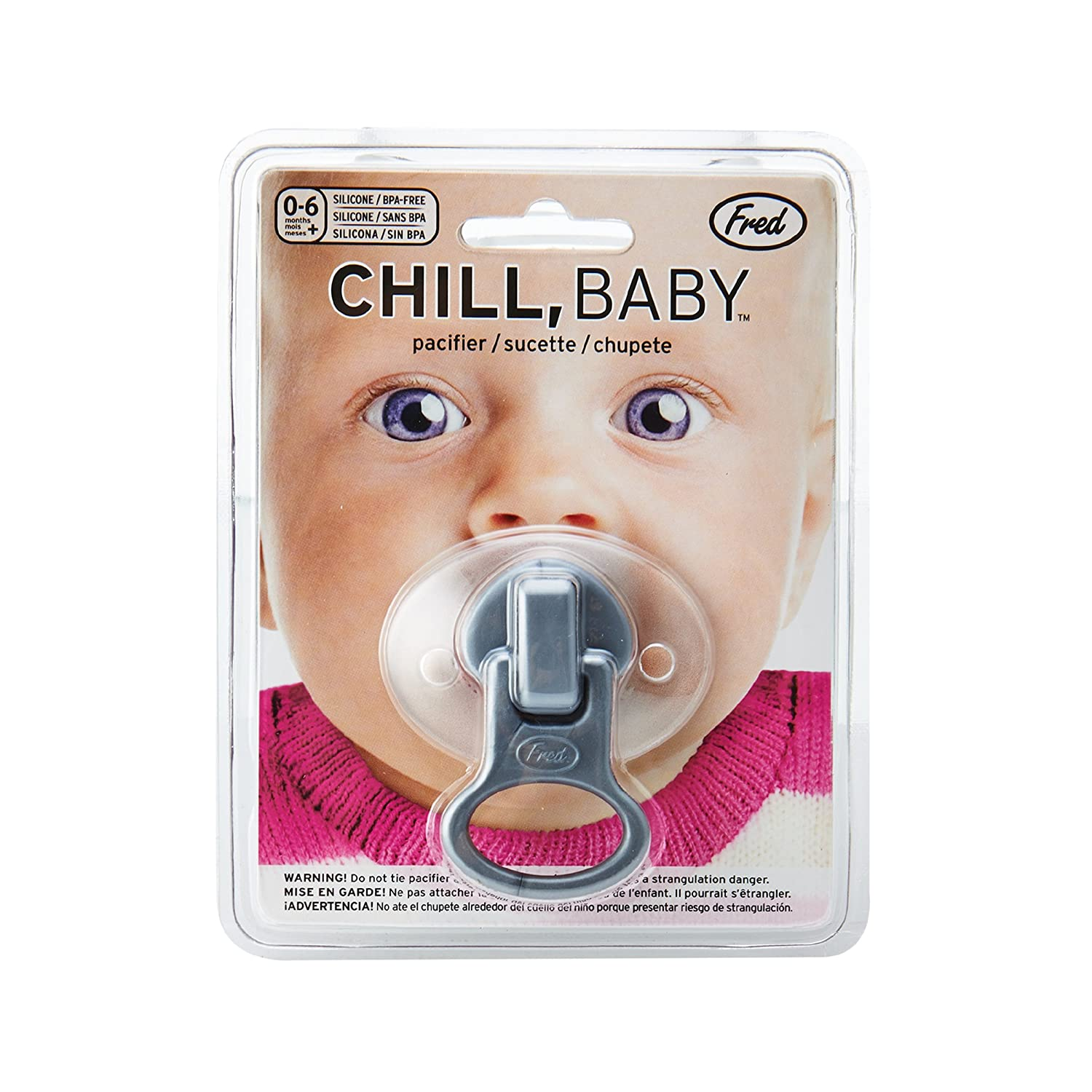 Amazon.com : Fred CHILL, Baby Zip It Pacifier : Baby