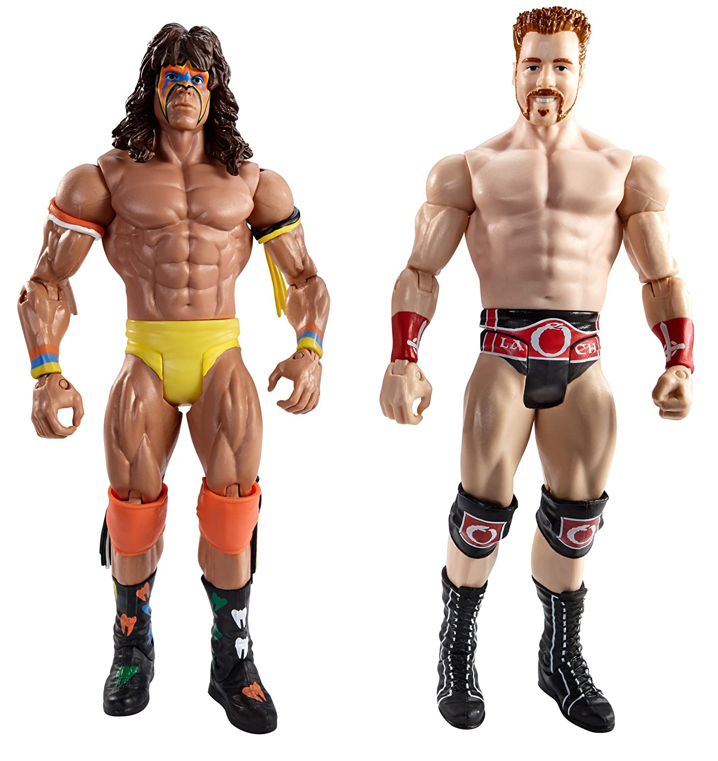 WWE WrestleMania Fantasy Match-Up Ultimate Warrior and Sheamus Action Figure 2-Pack