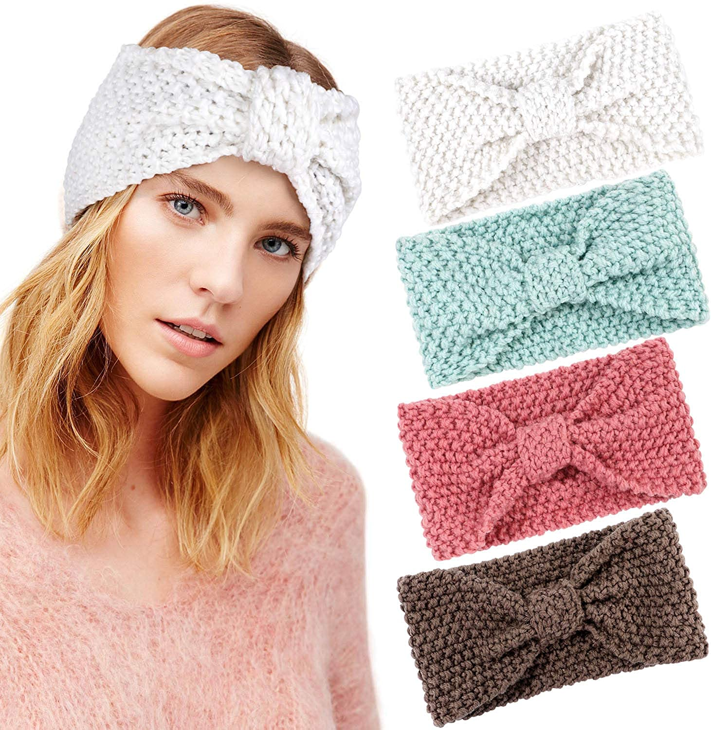 Knitted Headbands Winter...