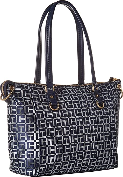 Tommy Hilfiger Womens Kelby Shopper Navy/White One Size: Handbags: Amazon.com