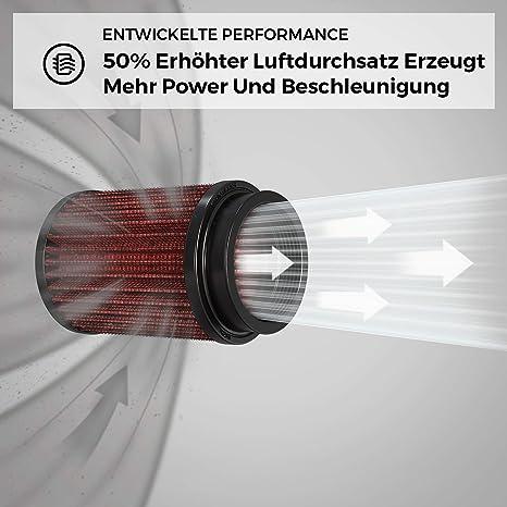 K N Rc 1900 Kfz Und Motorrad Universal Chrom Filter Auto