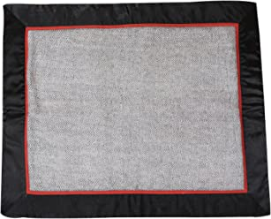 Friends of Meditation 10MM Fine Wool Meditation & Yoga Mat with Silk Satin Border