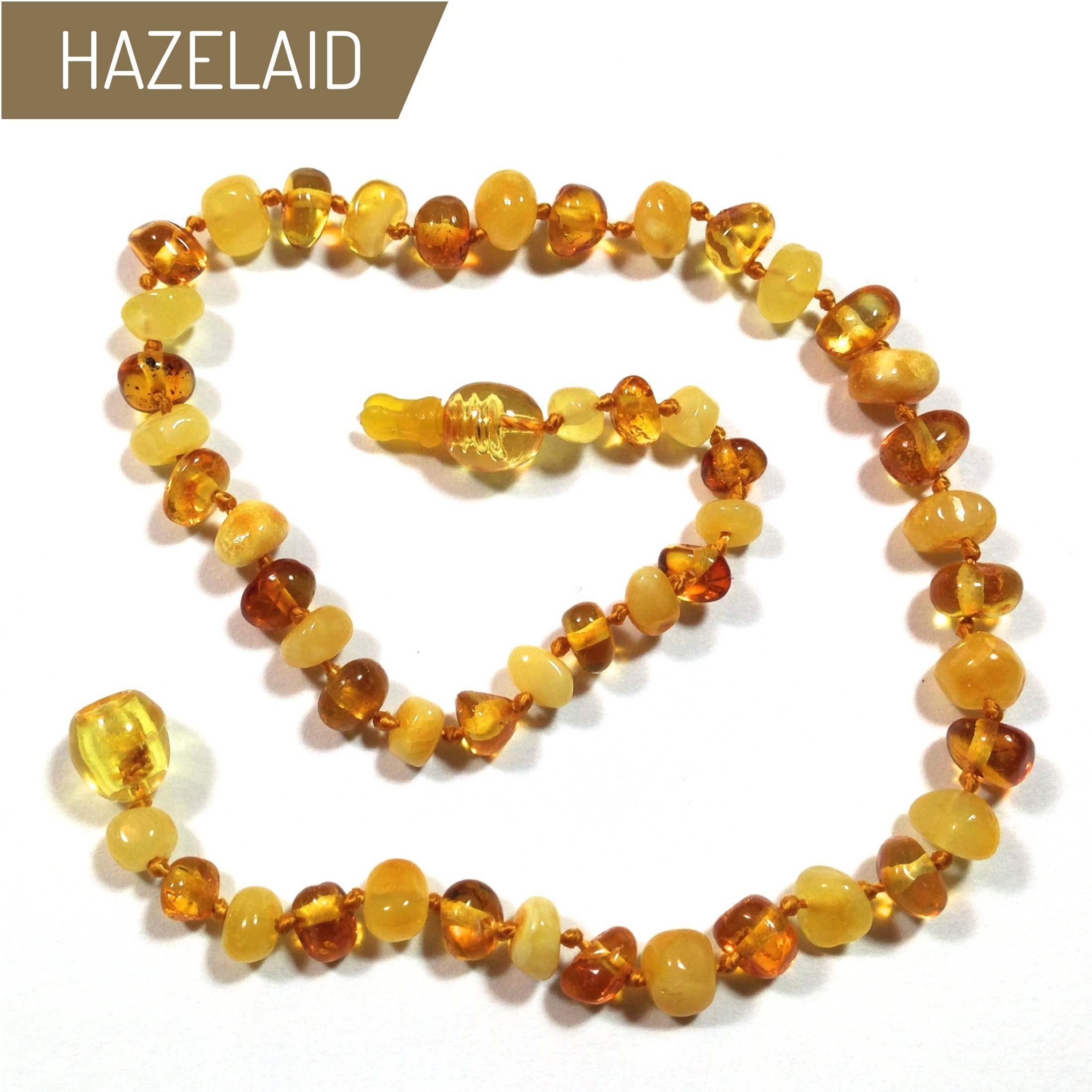 Hazelaid (TM) 12'' Pop-Clasp Baltic Amber Milk & Honey Necklace