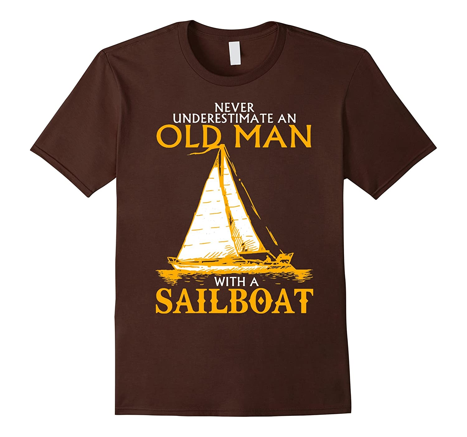 Mens Old Man With A Sailboat T Shirt Cd Canditee