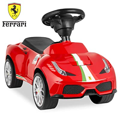 Best Choice Products Kids Licensed Ferrari 458 Sports Car Ride On Push Pedal Vehicle w/ Steering Wheel, Horn- Red: Toys & Games