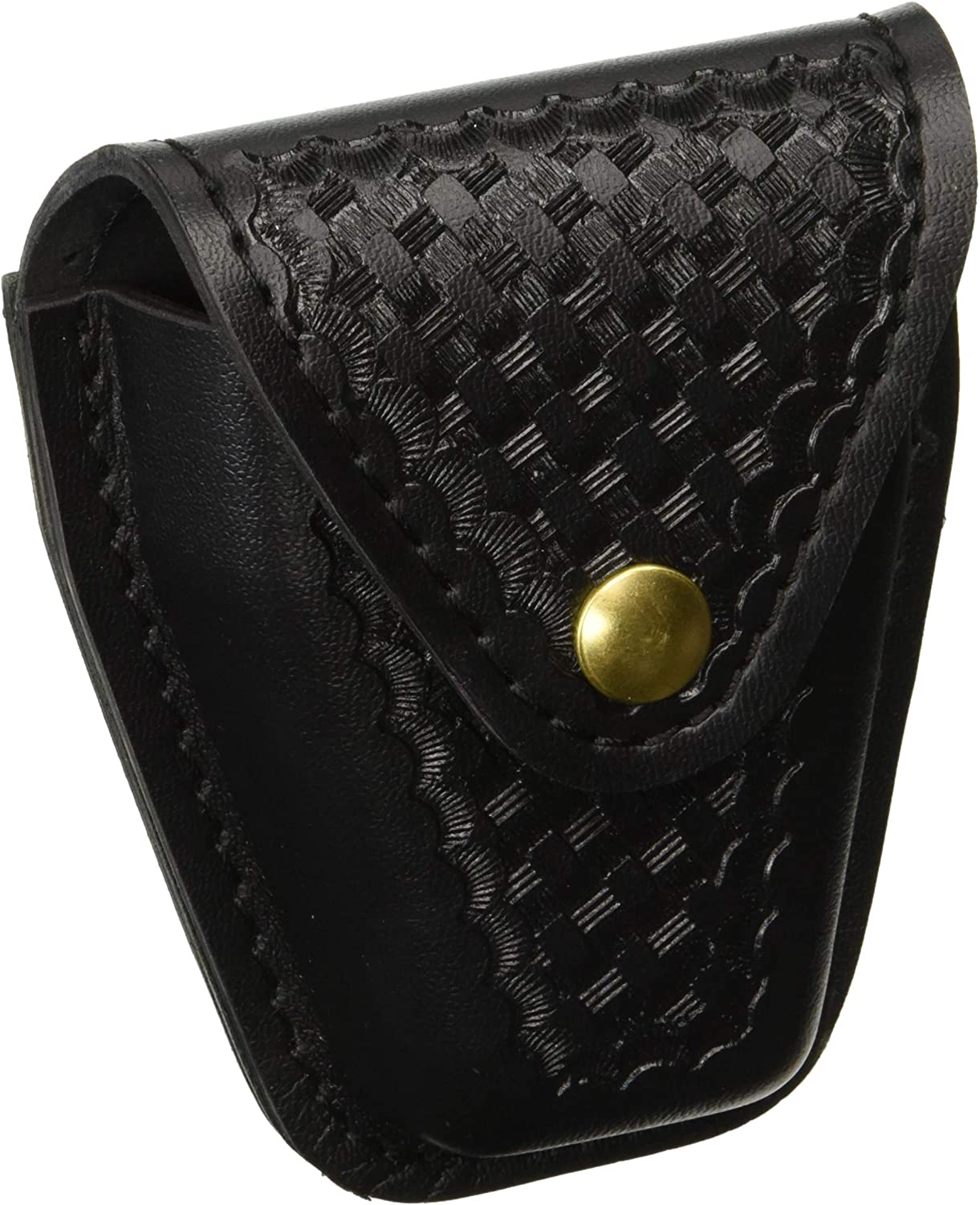 Safariland Duty Gear Brass Snap Handcuff Case (Basketweave Black)