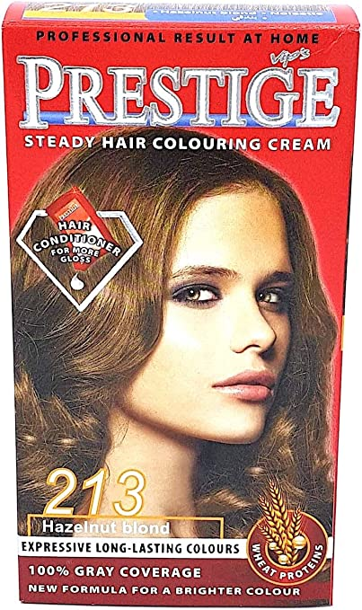 Vips prestige crema colorante para el cabello, color avellana 213