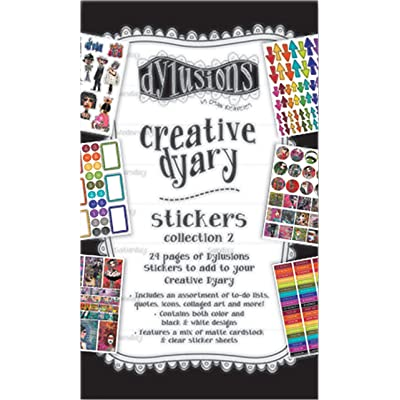 Ranger 2 Dylusions Creative Dyary Sticker Book: Arts, Crafts & Sewing