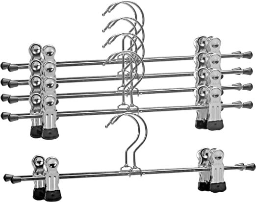 10 Trouser Hooks /& Bars Set For Skirts Or Trousers Choose Black Or Silver Colour
