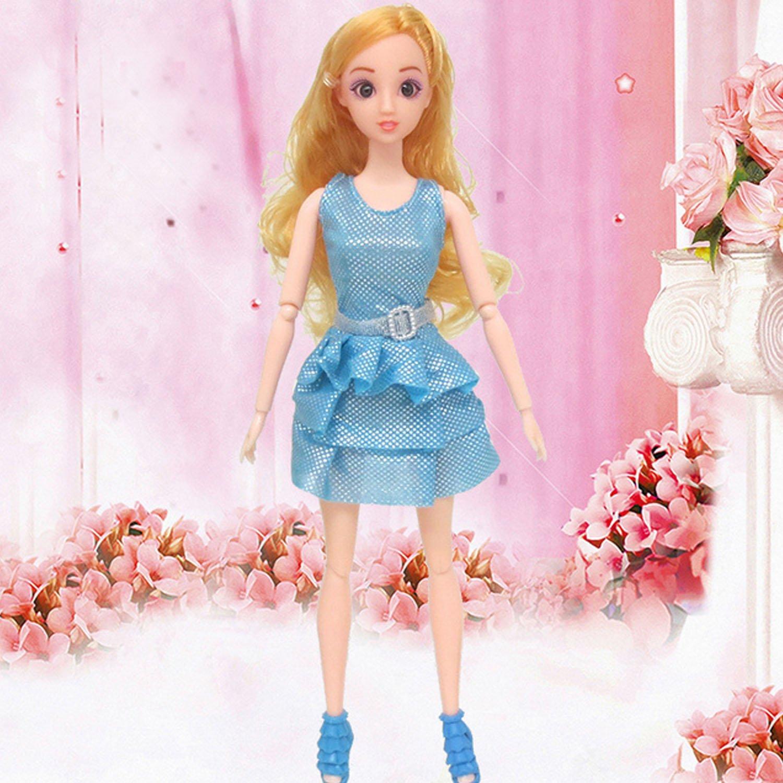 Beetest V/êtements pour Barbie 10 PCS Mode Fille Poup/ée Jouet Robes Gown Tenues V/êtements avec 10 Paire Chaussures Accessoires pour Barbie Jouets Enfants Filles Cadeau danniversaire Al/éatoire Style