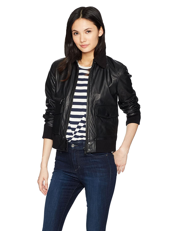 Joes Jeans Womens Billie Leather Jacket