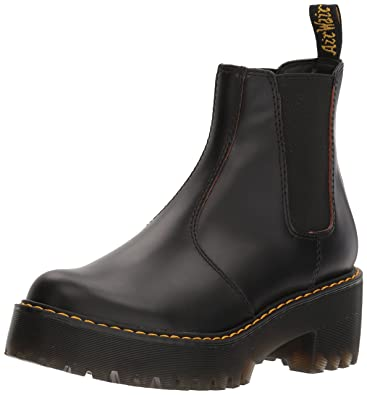 d2a537ee9a1 Dr.Martens Womens Rometty Black Leather Boots 40 EU: Amazon.co.uk ...