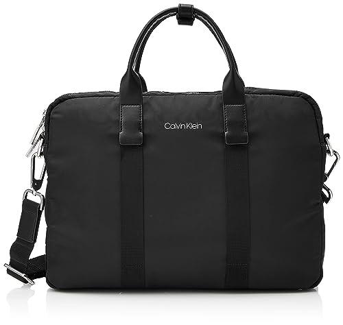 e24d0b39c Calvin Klein Braced 1 G Laptop Bag, Men's Black, 5.5x38x28 cm (B x ...