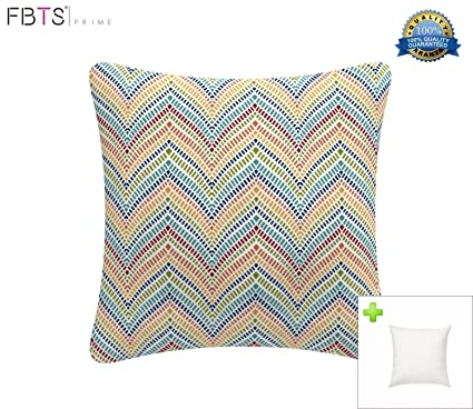 Amazon FBTS Prime Outdoor Decorative Pillows With Insert Orange Interesting Orange And Blue Decorative Pillows