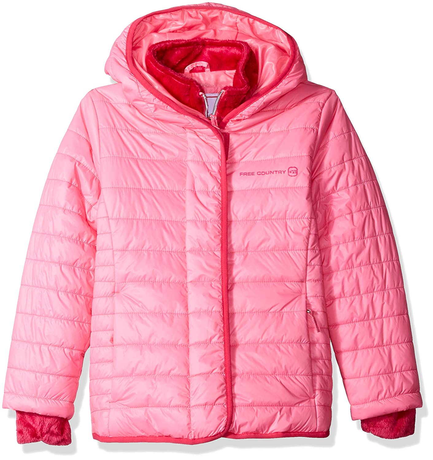 Free Country Girls' Quilted Cire Bib Jacket 6731