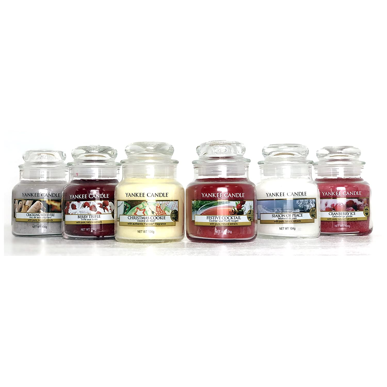 Candele Originali Yankee Candle - Confezione regalo con selezione di nr.6 candele con fragranze classiche natalizie, nel caratteristico barattolo (formato piccolo) My Planet