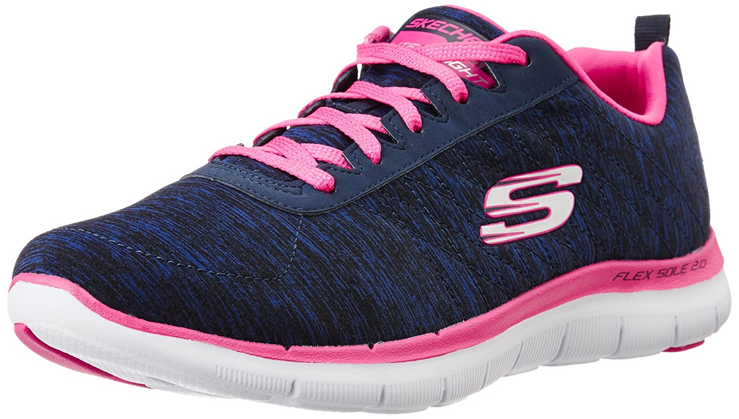 Skechers Damen Flex Appeal 2.0 Sneakers  40 EU|Blau (Nvpk)
