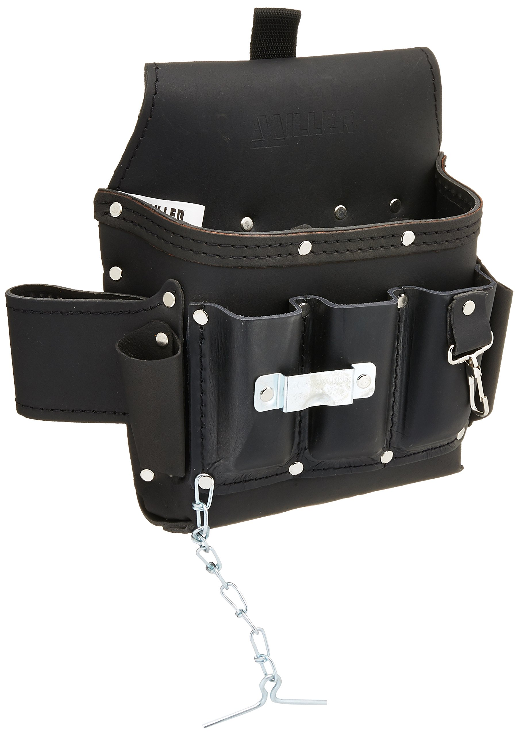Miller RIA-T11/1 Leather Utility Tool Bag for Revolution Harness, Black by Honeywell