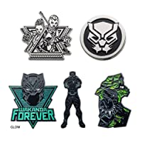 Marvel Black Panther Wakanda Forever Enamel 5 Pin Set (Amazon Exclusive)