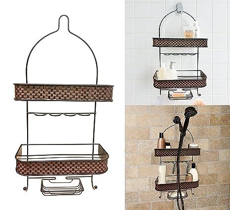 Decoración casetas para ducha con jabonera, para colgar accesorios soporte de ducha alcachofa de ducha