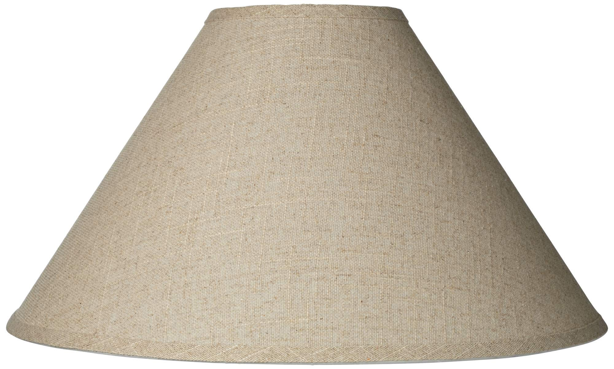 Burlap Empire Lamp Shade Rustic Fabric with Harp 6x19x12 (Spider) - Brentwood by Brentwood