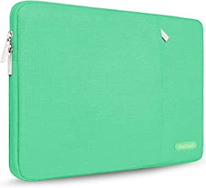 ZinMark Laptop Sleeve 13 Inch Compatible 2019 2018 MacBook Air 13 Inch Retina A1932, 13 Inch MacBook Pro A2159 A1989 A1706 A1708 | XPS 13, Water-Resistant Polyester Notebook Case, Light Green