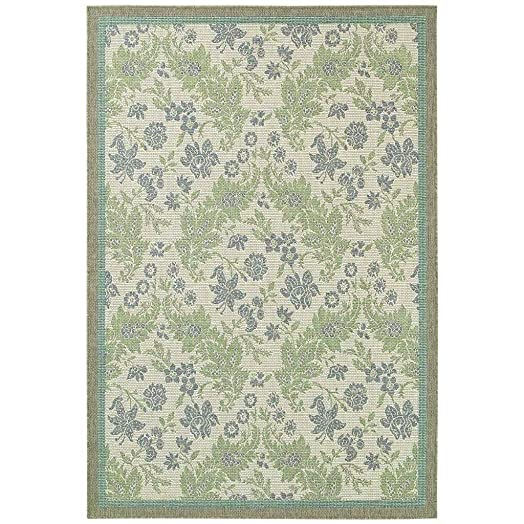 Couristan 2481 3212 Monaco Palermo Area Rugs, 5-Feet 3-Inch by 7-Feet 6-Inch, Champagne