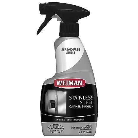 Amazon.com: Limpiador de acero inoxidable y lustrador Weiman ...