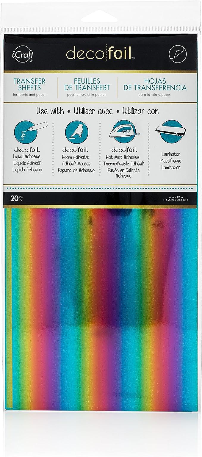 """Deco Foil Specialty Transfer Sheets 6/""""X12/"""" 5//Pkg-Iridescent DF54065"""