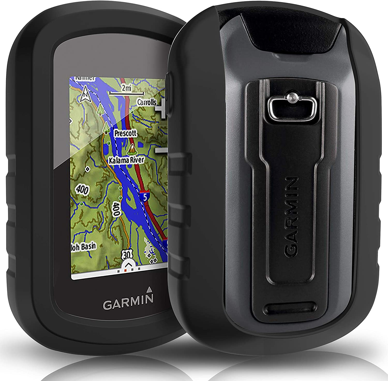 TUSITA Case for Garmin eTrex Touch 25 35 35t - Silicone Protective Cover - Handheld GPS Navigator Accessories (Black)