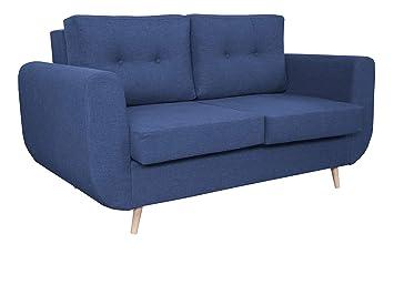 Mirjan24 Sofa Alpi 2, Loungesofa mit Holzbeinen, Polstercouch ...