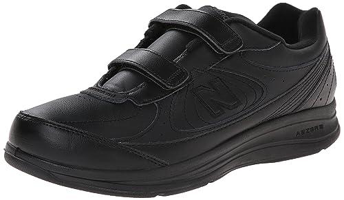 New Balance Men's MW577 Hook and Loop Walking Shoe, Black, ...