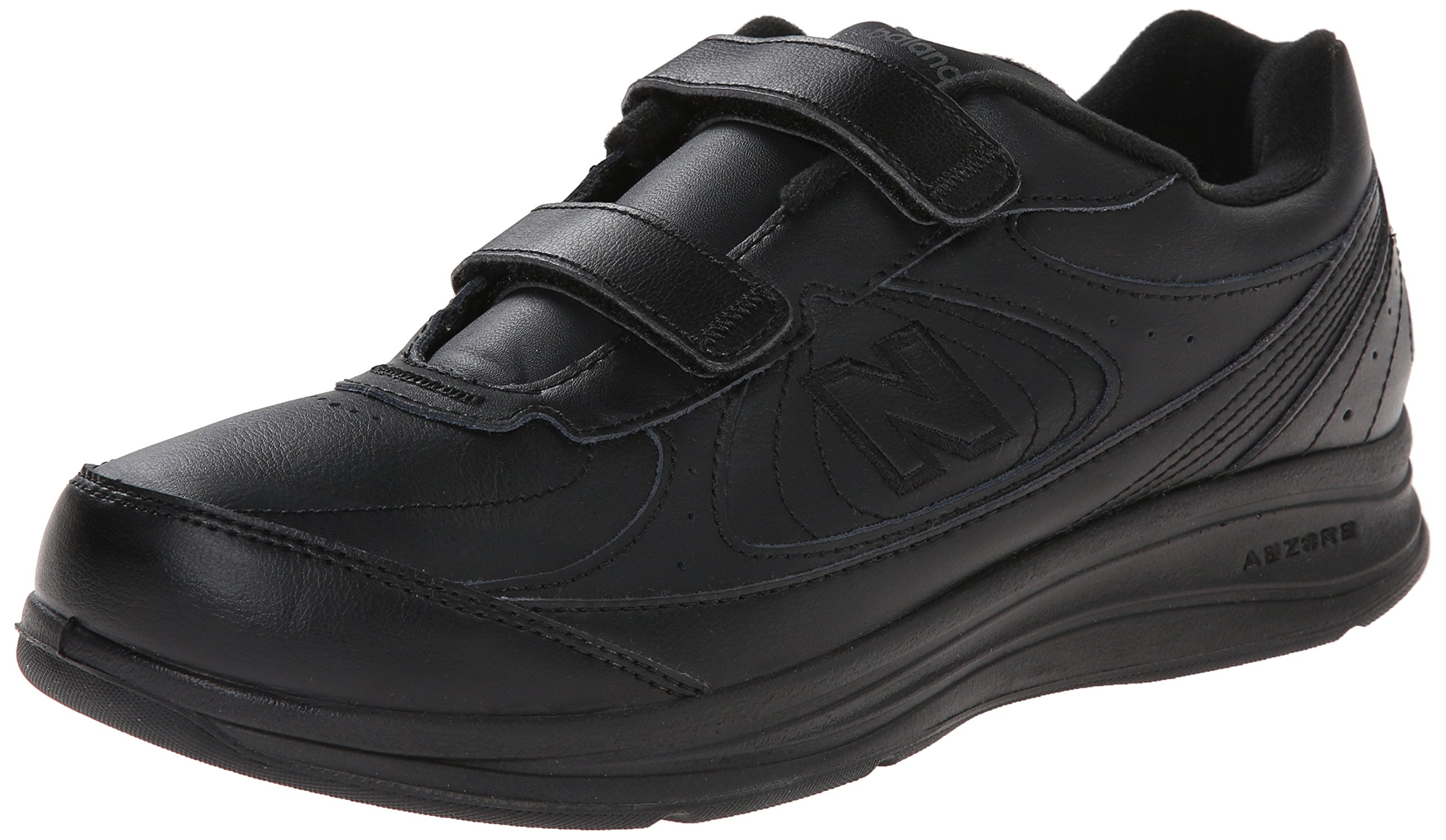 New Balance Men's MW577 Hook and Loop Walking Shoe, Black, 10.5 D US by New Balance
