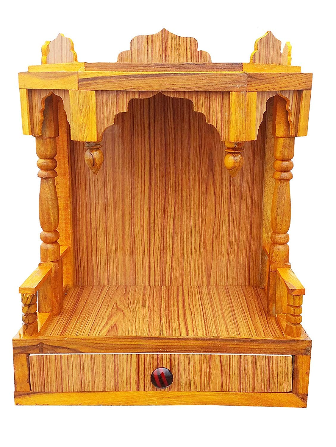 rs handicraft and marbles Wooden Beautiful Plywood Mandir Pooja Temple  (Height-52, Length-41, Width-23 cm)