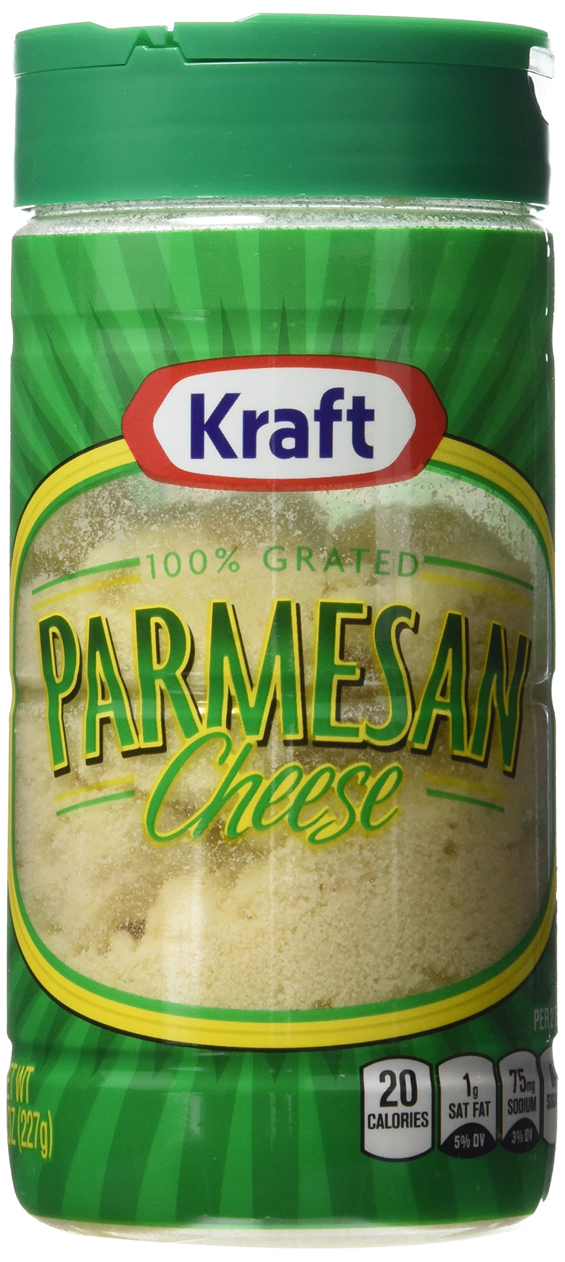 Kraft, 100% Real Grated Parmesan Cheese, 8oz Canister (Pack of 3)