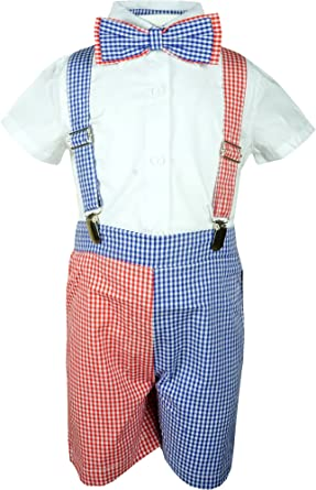 2328a77fd426 Baby Toddler Boys Merry Christmas Gingham Checkers Suspender Short Set 3-6M