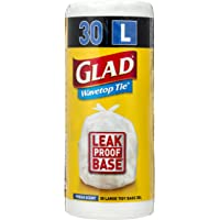 Glad Wavetop Tie Kitchen Tidy Bags , 30 count