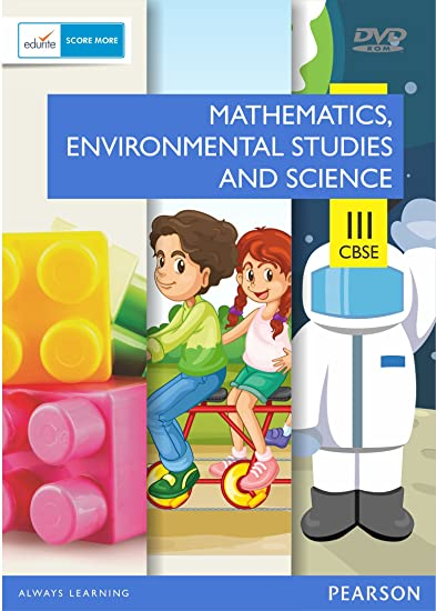 CBSE Class 3 Maths & EVS + Science Combo: Edurite, Pearson