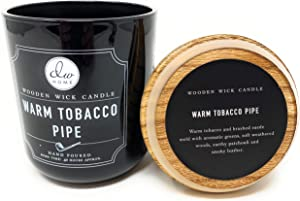 DW Home Warm TOACCO Pipe Wooden Wick Candle 11.5 Ounces