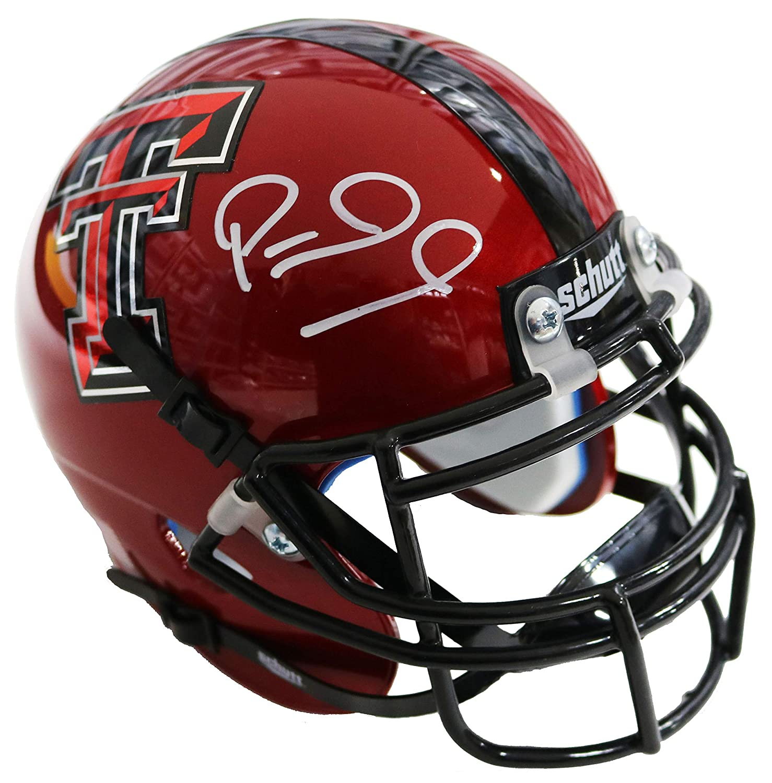 Patrick Mahomes Texas Tech Red Raiders Signed Autograph Schutt Mini Helmet #15 JSA Witnessed Certified