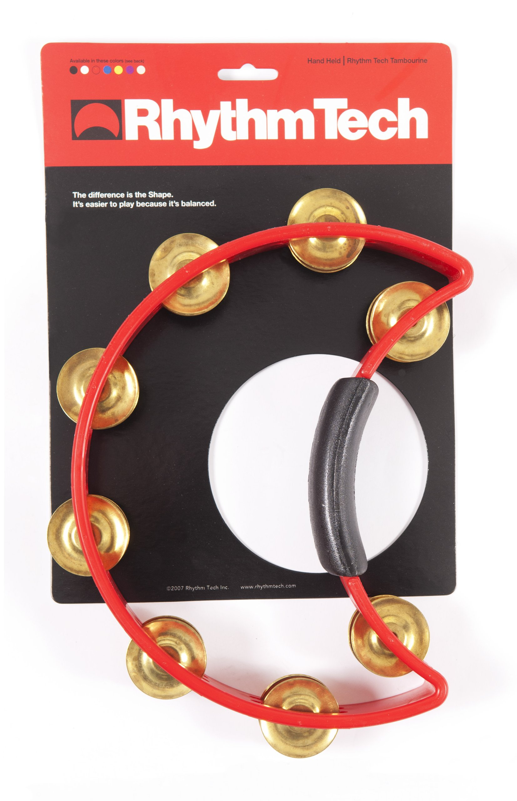 Rhythm Tech Tambourine, RED, INCH (RT 1031) by Rhythm Tech