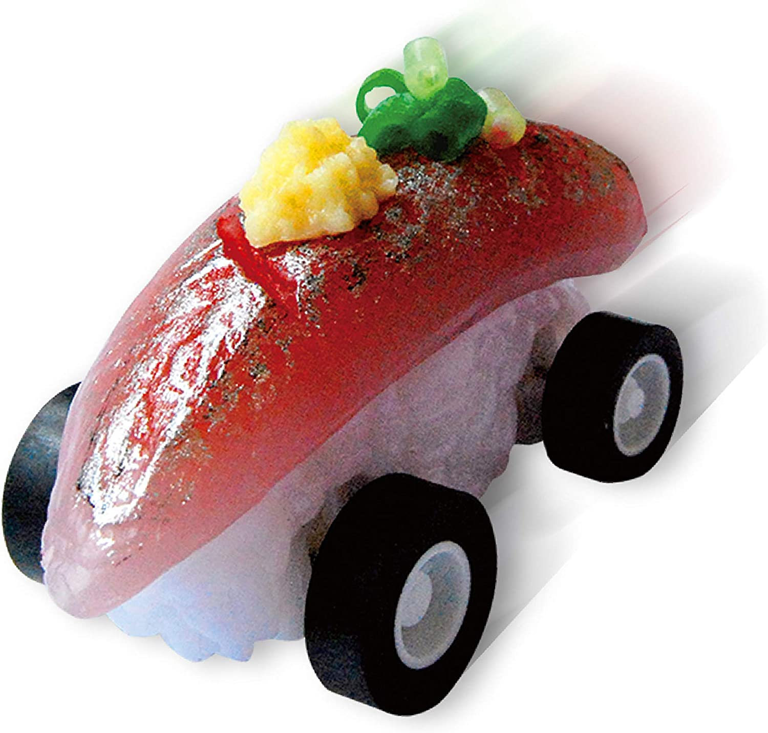 Sushi Boon (Horse Mackerel), the worlds fastest sushi pullback cars. Realistic food replicas made by the experts. Great for kids who like model and toy cars like Choro-Q. Real. 9 types in total.