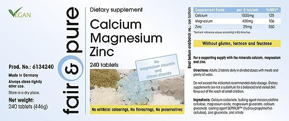 Calcium Magnesium Zinc, Multi Mineral Complex, Vegan