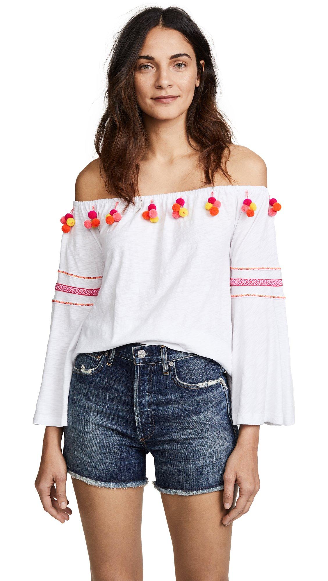 Pitusa Women's Pima Twiggy Top, White, One Size