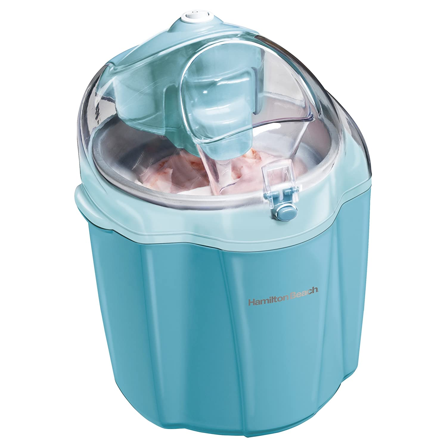 Hamilton Beach 68322 Ice Cream Maker, 1.5-Quart, Blue