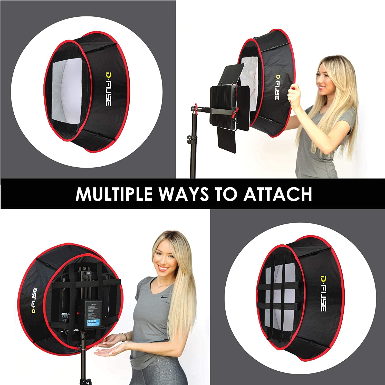 Portable Softbox Grid Foldable D-Fuse Circle Trapezoid Softbox Grid LED Light Panel Softbox Studio Photography Camera Video