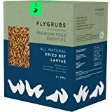 FLYGRUBS Superior to Dried Mealworms for Chickens (5 lbs) - 85X More Calcium Than Meal Worms - Non-GMO Chicken Feed & Molting Supplement - FDA Approved BSF Larvae Treats for Hens, Ducks, Birds