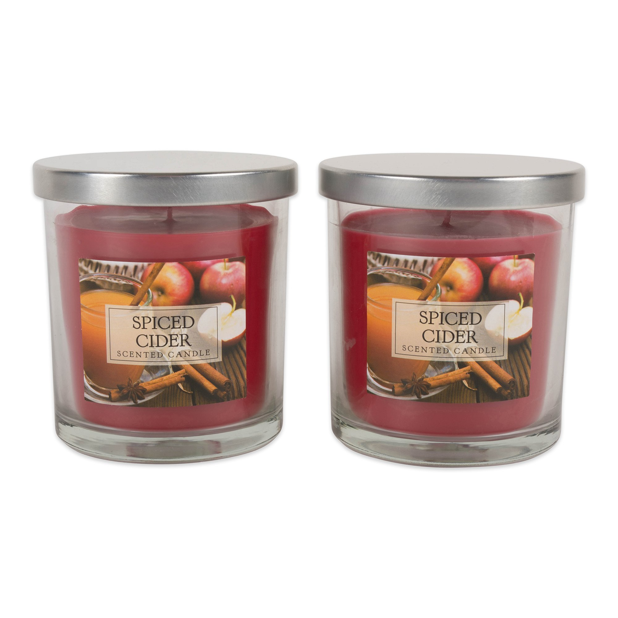 DII Z02105 Single Wick Evenly Burning Highly Scented Jar Candle, 8 oz Each, Spiced Cider by DII